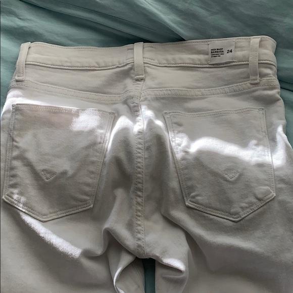 Hudson high waist white skinny jeans